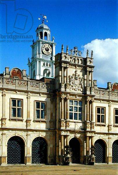 Detail of the south front of Hatfield House, Hertfordshire, built 1607-12 (photo)
