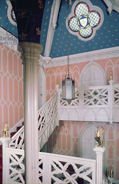 Newell post staircase, Strawberry Hill (1749-1776) Middlesex, UK (photo)