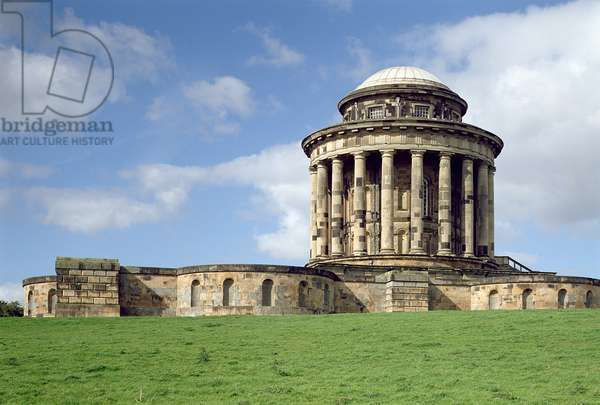 Castle Howard, The Mausoleum from the south-east, built in 1729 by Nicholas Hawksmoor (1661-1736), North Yorkshire, UK (photo)