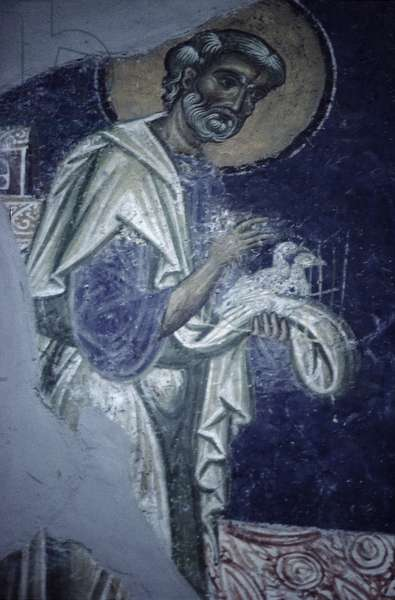St. Joseph, a detail from the Presentation of Christ in the Temple, c.1164 (fresco)