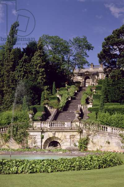 The Great Staircase, built by Sir Charles Barry (1795-1860) in 1848-52 (photo)