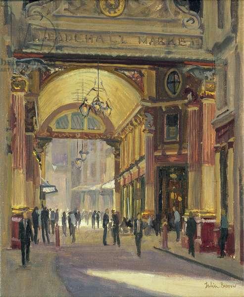 Leadenhall Market - the Crossroads (oil on canvas)