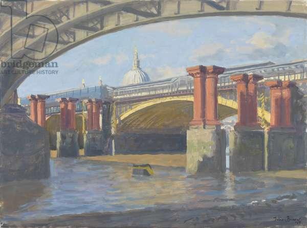 Blackfriars Bridge, 2010 (oil on canvas)