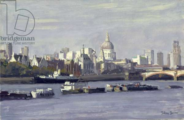 St. Paul's from Bankside (oil on canvas)