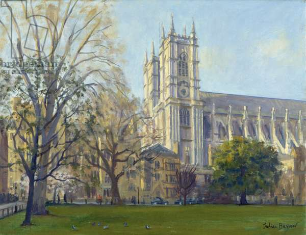Westminster Abbey from Dean's Yard (oil on canvas)