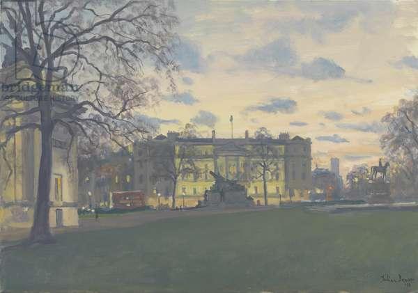 Spring Evening, Hyde Park Corner, 2010 (oil on canvas)