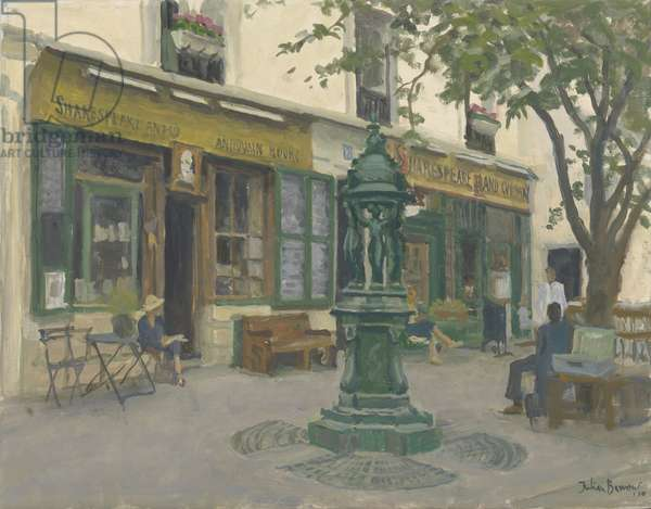 Shakespeare and Co, 2010 (oil on canvas)
