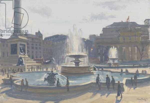Trafalgar Square, 2010 (oil on canvas)
