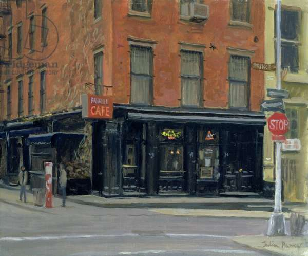 Fanelli's Bar, New York, 1996 (oil on canvas)