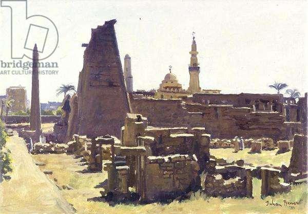 Luxor Temple, Egypt, 2001 (oil on canvas)