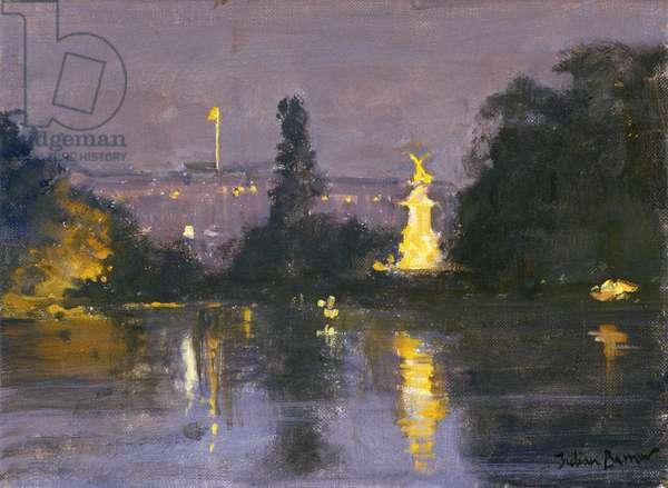 Buckingham Palace - Night (oil on canvas)