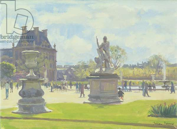 Afternoon in the Tuileries, Paris (oil on canvas)