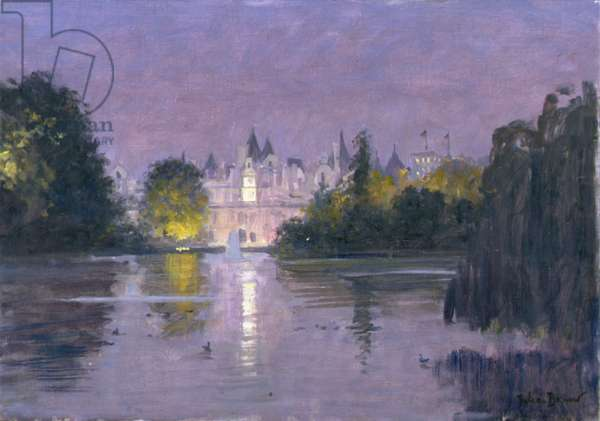St James's Park - Night (oil on canvas)