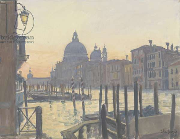 Sunrise Grand Canal, 2009 (oil on canvas)