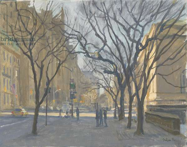 Fifth Avenue and the Met, 2010 (oil on canvas)