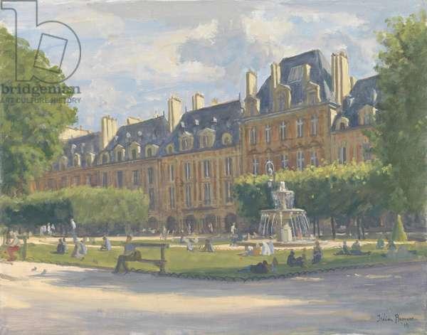 Place des Voges, 2010 (oil on canvas)