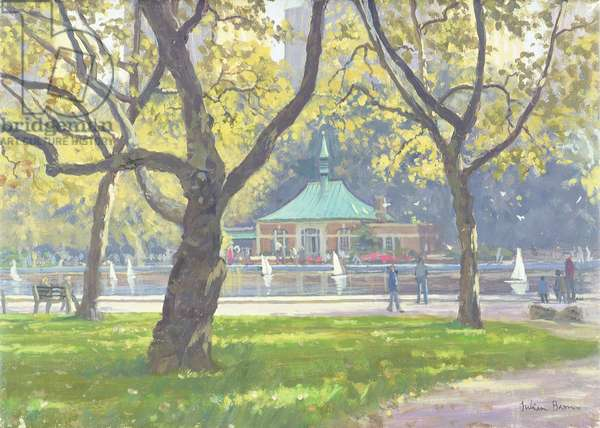 Boat Pond, Central Park (oil on canvas)