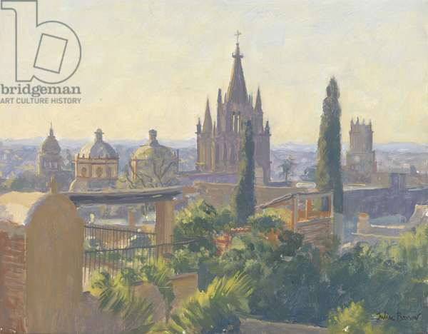Rooftops of San Miguel Allende, 2005 (oil on canvas)