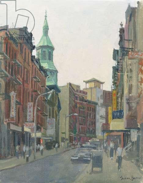 Mott Street, New York, 1997 (oil on canvas)