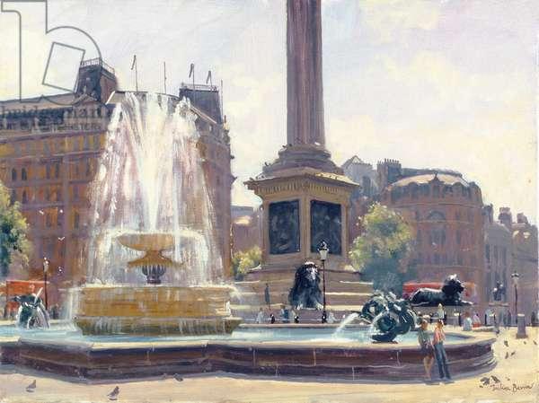 Trafalgar Square, London (oil on canvas)