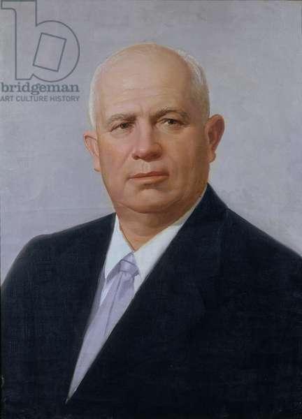 Portrait of Nikita Khrushchev (1894-1971) (oil on canvas)