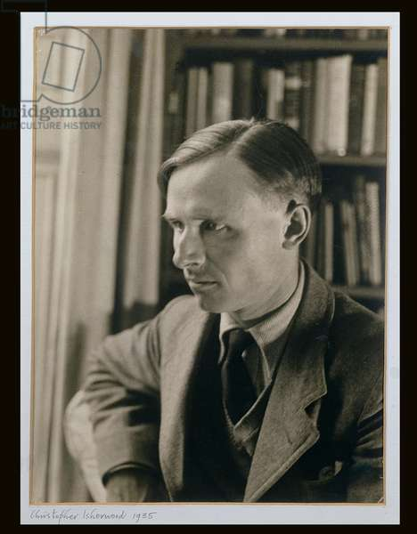 Portrait of Christopher Isherwood (1904-86) 1935 (b/w photo)
