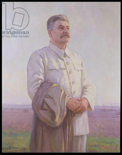 Good Morning Motherland, Portrait of Joseph Stalin (1879-1953) (oil on canvas)