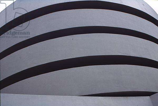 Exterior view of the Solomon R. Guggenheim Museum, 1943-59 (photo) (detail)