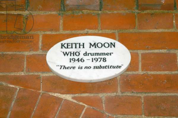 Plaque commemorating Keith Moon (1946-78) (photo)