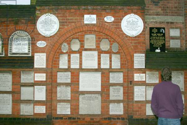 View of memorial plaques (photo)