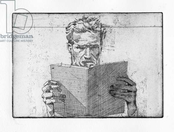Most often from books, 2011 (etching)