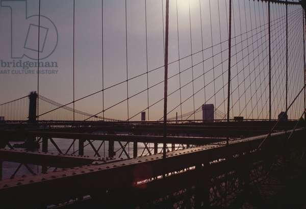 Brooklyn Bridge, completed in 1883 (photo)