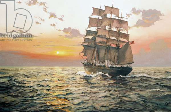 The Clipper 'Wylo' (oil on canvas)