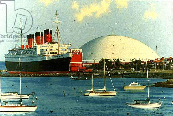 The 'Queen Mary' at Long Beach, c.1995 (oil on canvas)