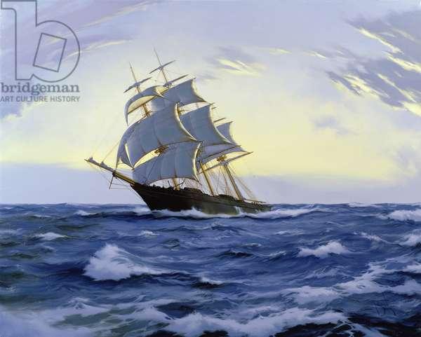 Clipper, Clear Dawn- 'Lak Loo', 2010 (oil on canvas)