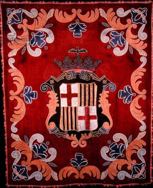 Banner with the Arms of Barcelona, c.1880 (velvet applique)