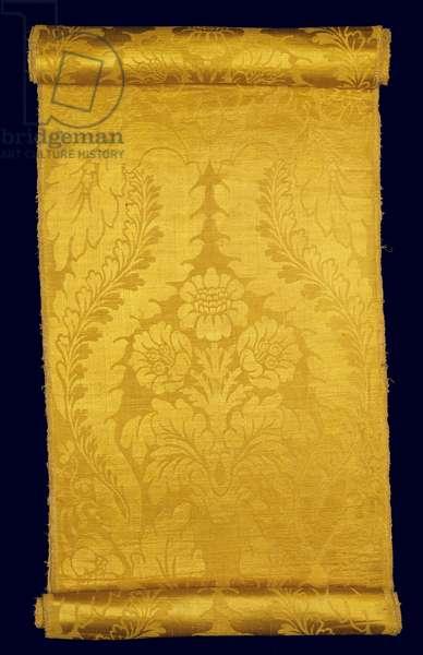 Silk Brocatelle, c.1680 (woven silk)