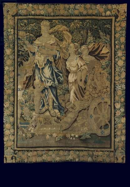 Tapestry depicting the Judgement of Paris, c.1650 (wool & silk)