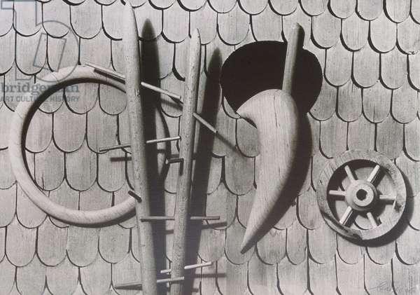 Stable Wall, 1936 (silverprint)