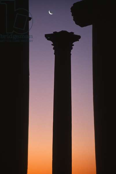 A column forming part of the colonnaded central street (photo)