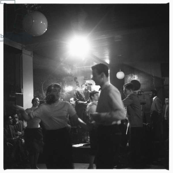 Humphrey Lyttelton playing the trumpet, c.1955 (b/w photo)