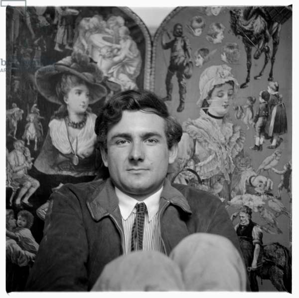 Jeremy Sandford, portrait of television screenwriter of Cathy Come Home London early 1960's (b/w photo)
