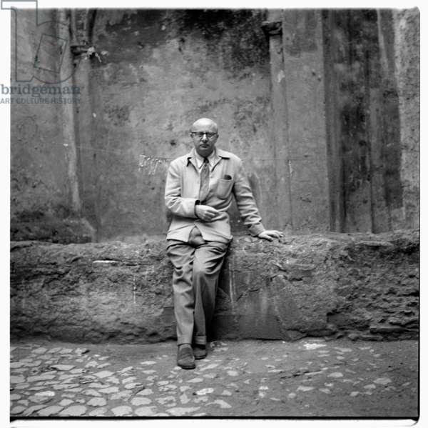 Eugene Berman in Italy, c.1955 (b/w photo)