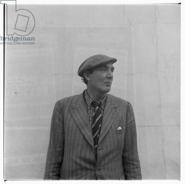 Portrait of poet George Barker, London, mid early 1950's