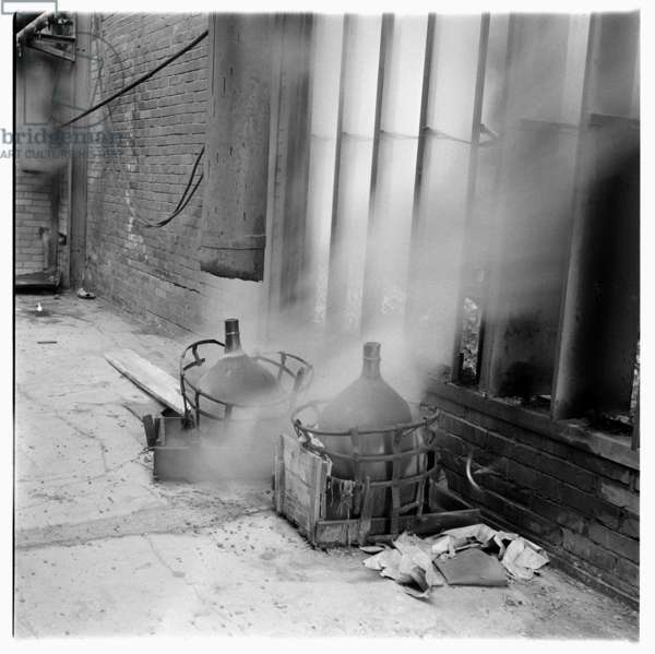 Genoa, Industrial, images of ILVA Genoa, steelworkers and steelworks, Italy