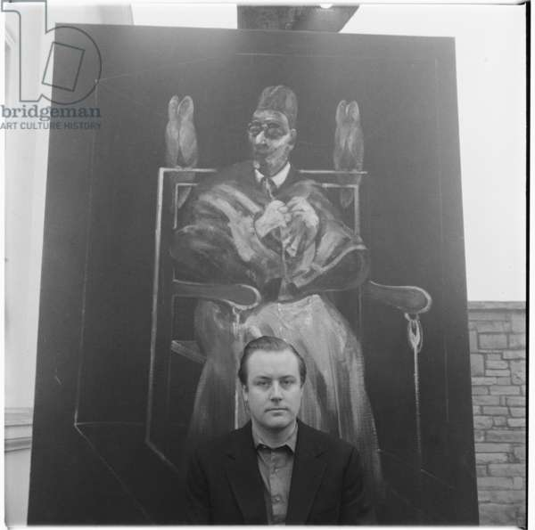 Anthony Hubbord, portrait of socialite Woolworth heir, husband of Liz Odell, London, UK, mid 1950's (b/w photo)