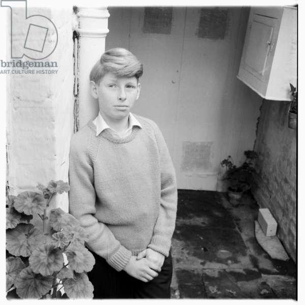 Unknown boy, c.1955 (b/w photo)