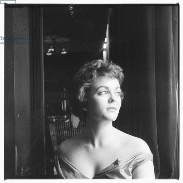 Portrait of unknown woman, London 1960's (b/w photo)