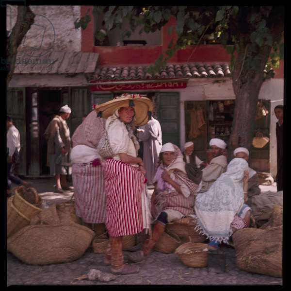 Village life in a small town in the Tangierian hills, early 1960's (photo)