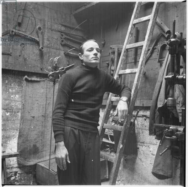 Takis, c.1955 (b/w photo)